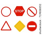 a set of road signs  for... | Shutterstock .eps vector #719838352