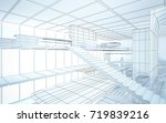 abstract drawing white interior ... | Shutterstock . vector #719839216