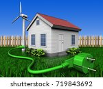 3d illustration of wind energy... | Shutterstock . vector #719843692