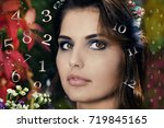 numerology and physiognomics | Shutterstock . vector #719845165