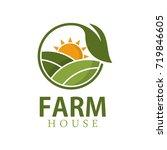 farm house logo design template | Shutterstock .eps vector #719846605
