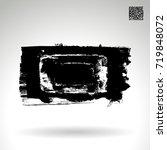 black brush stroke and texture. ... | Shutterstock .eps vector #719848072