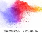 abstract powder splatted... | Shutterstock . vector #719850346