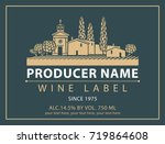 Vector Label For Bottle Of Win...