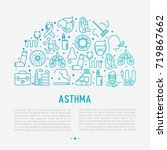 world asthma day concept in... | Shutterstock .eps vector #719867662