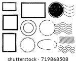 blank postal stamps set... | Shutterstock .eps vector #719868508