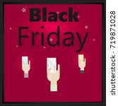 black friday sale poster or... | Shutterstock .eps vector #719871028