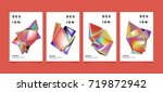 abstract colorful geometric... | Shutterstock .eps vector #719872942