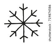 handmade black snowflake.... | Shutterstock .eps vector #719874586