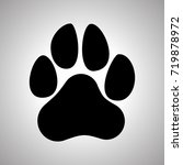 paw prints. dog or cat paw... | Shutterstock .eps vector #719878972