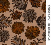 seamless cone pattern with... | Shutterstock .eps vector #719880838