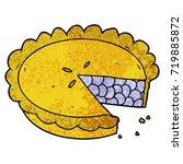 blueberry pie cartoon | Shutterstock .eps vector #719885872