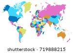 color world map | Shutterstock .eps vector #719888215