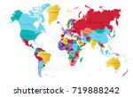 color world map | Shutterstock .eps vector #719888242