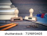 original and copy concept.... | Shutterstock . vector #719893405