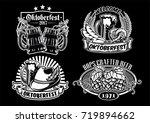 oktoberfesr badge design... | Shutterstock .eps vector #719894662