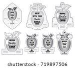 set of cider or farm lables... | Shutterstock .eps vector #719897506