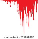 dripping blood isolated on...   Shutterstock .eps vector #719898436