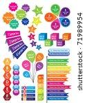 text box templates | Shutterstock .eps vector #71989954