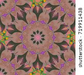 seamless pattern with fantasy... | Shutterstock .eps vector #719911438