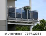 balcony railing with glass and... | Shutterstock . vector #719912356