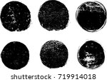 grunge post stamps collection ... | Shutterstock .eps vector #719914018