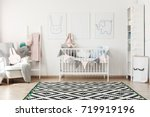 geometric carpet in scandi... | Shutterstock . vector #719919196