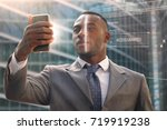 a businessman as bank and...   Shutterstock . vector #719919238