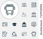 education icons set. collection ... | Shutterstock .eps vector #719920096