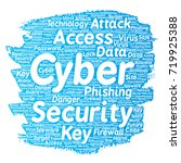 vector conceptual cyber... | Shutterstock .eps vector #719925388