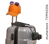 essential things for traveling | Shutterstock . vector #719942206