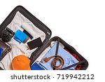 suitcase for travelling | Shutterstock . vector #719942212