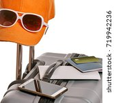 ready vacation suitcase | Shutterstock . vector #719942236