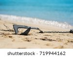 anchore from touristic boats on ... | Shutterstock . vector #719944162