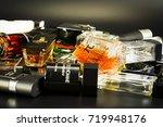 many brands of bottles of...   Shutterstock . vector #719948176