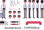 a young employee s character... | Shutterstock .eps vector #719950816