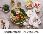 healthy food nourishment diet...   Shutterstock . vector #719951296