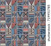 seamless vector pattern.... | Shutterstock .eps vector #719951785