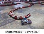 race between safety barriers in ... | Shutterstock . vector #71995207