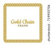 golden chain square border... | Shutterstock .eps vector #719955706