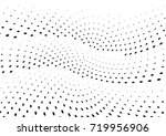 abstract halftone wave dotted... | Shutterstock .eps vector #719956906