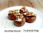 walnut stuffed figs  cevizli... | Shutterstock . vector #719959798