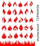 fire collection set. vector | Shutterstock .eps vector #719964436