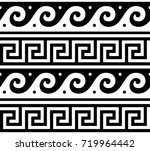 ancient vector greek seamless... | Shutterstock .eps vector #719964442