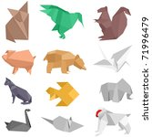 origami style illustrations of... | Shutterstock .eps vector #71996479
