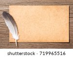 feather and grunge brown... | Shutterstock . vector #719965516