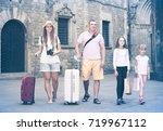 happy italian traveling family... | Shutterstock . vector #719967112