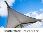 awning in sail shape under... | Shutterstock . vector #719970472