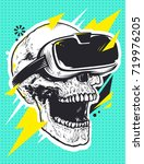 skull in virtual reality... | Shutterstock .eps vector #719976205