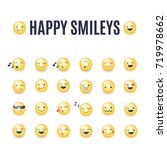 happy smileys vector icon set.... | Shutterstock .eps vector #719978662